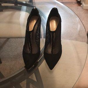 Brand New Black Netted Heels